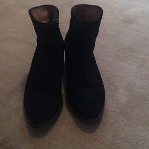 Corso Como Black Suede ankle booties